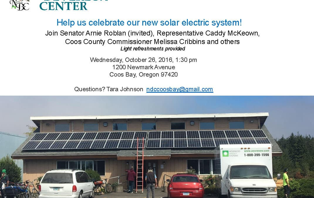 Celebrate Nancy Devereux Center Grant-Funded Solar Energy!